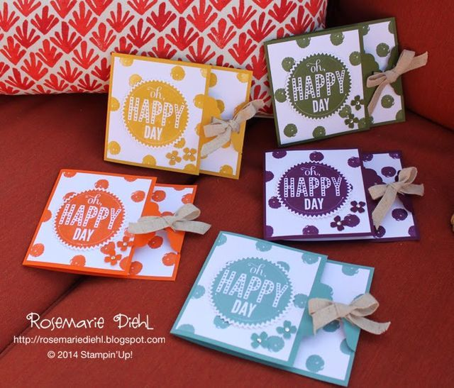2014 In Colors Stampin Up: Oh Happy Day With The New 2014-2016 In Colors! (Rose's