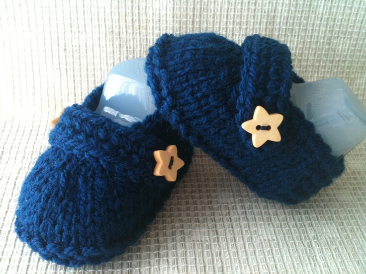 Baby boy loafer style booties.  Size:  Newborn to 3 months.