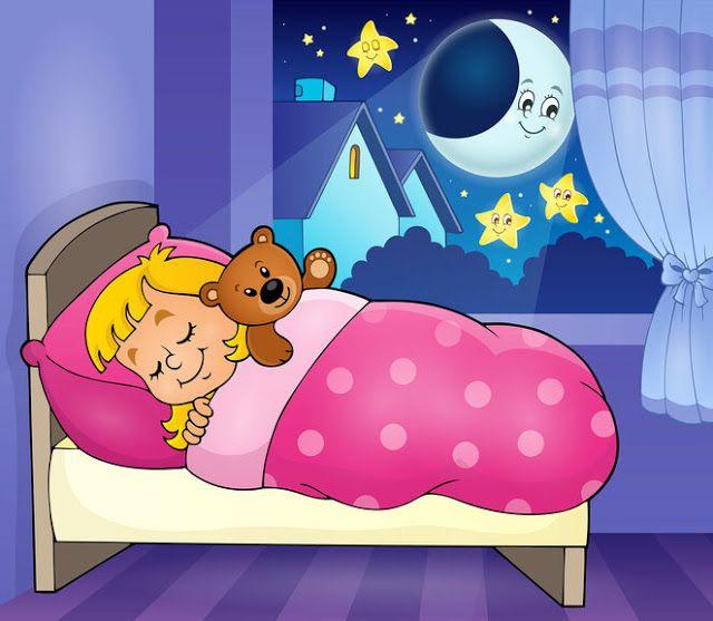 Imagenes De Dormir Dibujos De Buenas Noches Rutina Diaria De Ninos Ilustracion De Noche