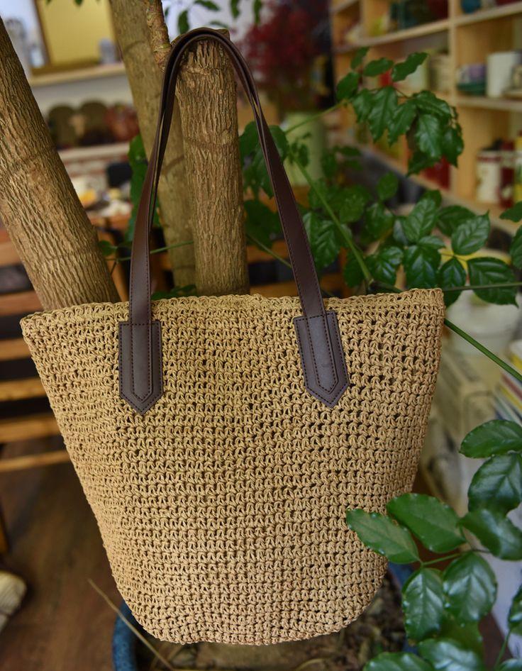Cheap Bolso de la paja 2016 marea nueva edición de han bolso de balas de paja bolsas de playa caña crochet pura manual, Compro Calidad Bolsas de Asa superior directamente de los surtidores de China: