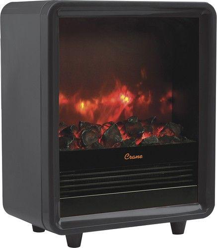 Crane - Fireplace Space Heater - Black