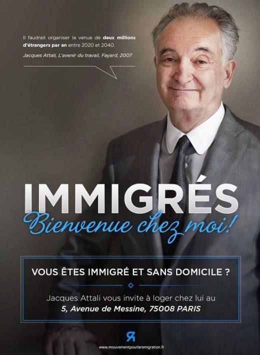Jacques Attali, ce « Dieu vivant qui sait tout » et comme tel sollicité par tous les plateaux télé, se réjouit de l'arrivée en masse des «migrantsdignes, magnifiques, souvent bien formés, j…