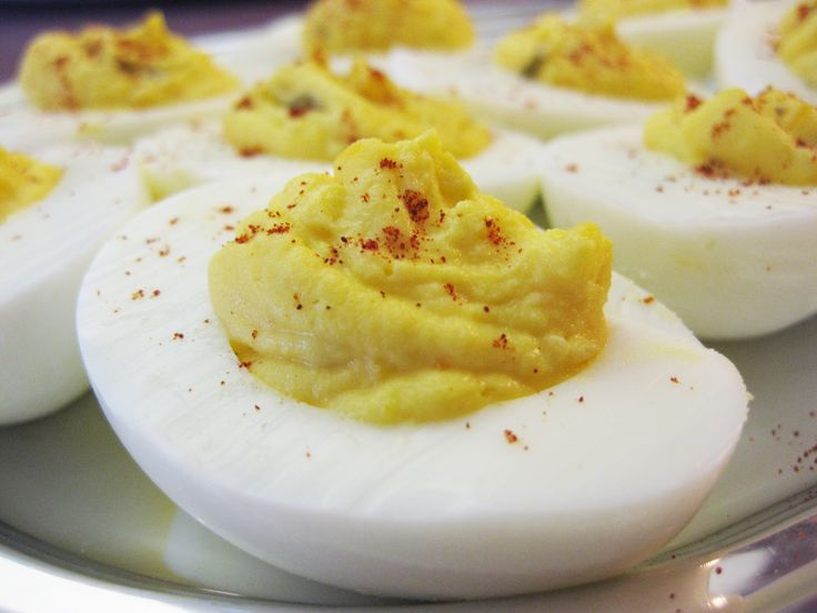 The filling for southern-style basic deviled eggs is nothing more than egg yolks, mayonnaise, mustard and sweet pickle relish. Description from legalaidsociety.info. I searched for this on bing.com/images