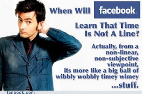 Facebook: Time is not a line..