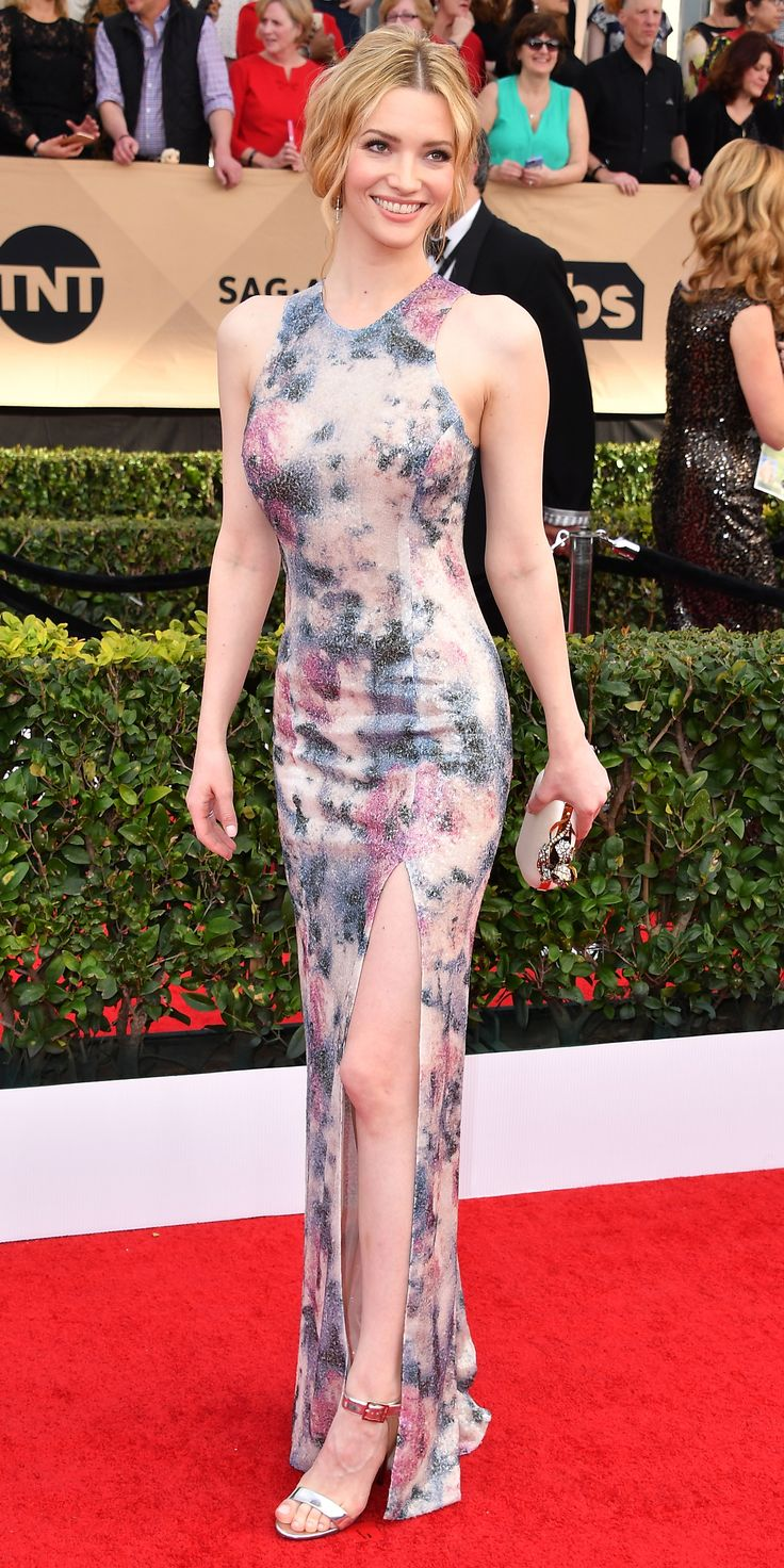 Talulah Riley in Galvan. 2017 SAG Awards Red Carpet from InStyle.com