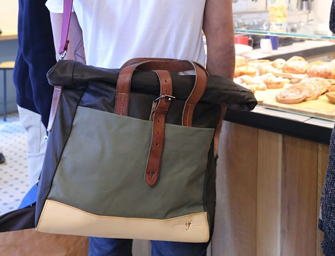 Rollup Laptop Bag Pelle – MARRONE e VERDE - Officine Federali