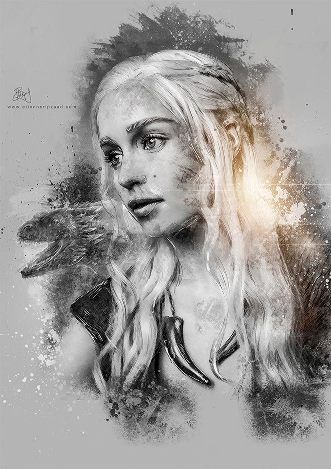 Game of Thrones Photo Illustrations by Etienne Ripzaad #GameofThrones