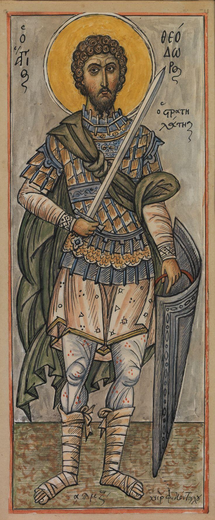 Φώτης Κόντογλου, Ο Άγιος Θεόδωρος ο Στρατηλάτης, 1947-1948Saint Theodore the…