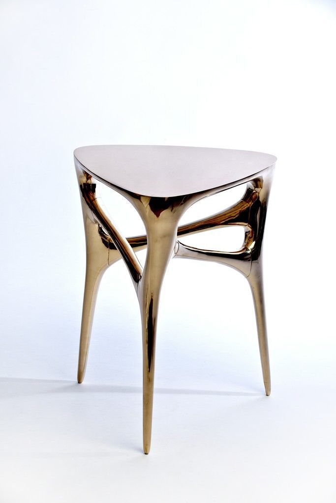 From Wexler Gallery, Timothy Schreiber, Methodology Table Cast And Polished  Bronze, 21 × 17 × 17 In