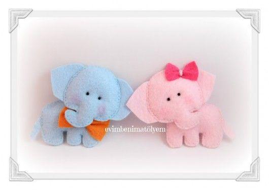 cute elephant babies / keçe bebek filler