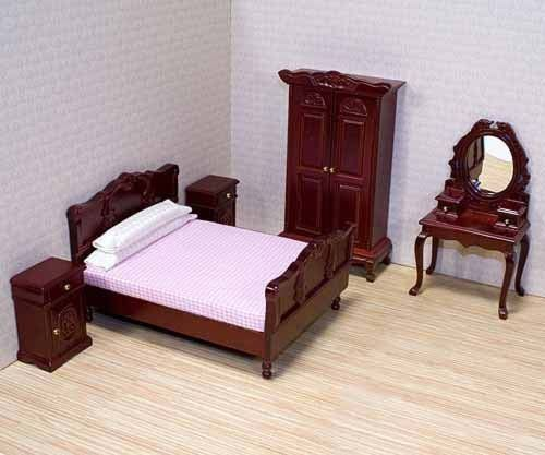 Wooden furniture features working doors and drawers. Deluxe Doll - House Bedroom FurnitureB000GYWXSC. Includes bed 2 nightstands vanity and wardrobe. Hand Crafted. Product Features. Handling Time. | eBay!