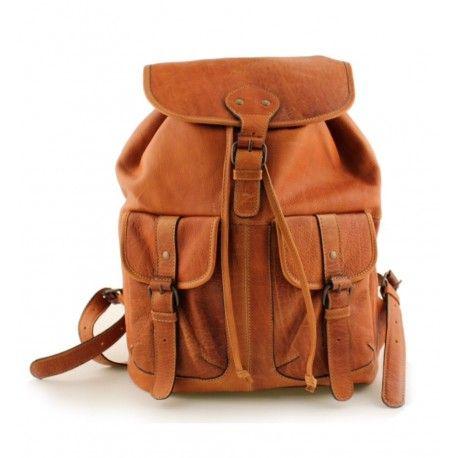 Super skøn skind rygsæk fra Dixie i en flot Tan farve - Sala