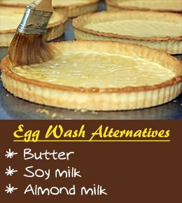 Egg wash alternatives