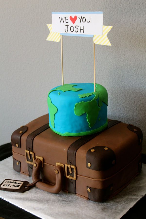 Cake Decorating Ideas Bon Voyage : Best 20+ Farewell cake ideas on Pinterest Planes cake ...