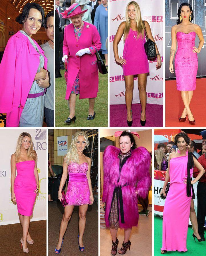 Платье цвета фуксии: как и с чем носить броский наряд?