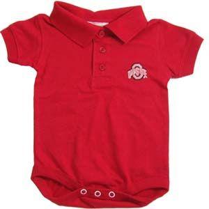 Ohio State Baby Clothing Golf Shirt Romper