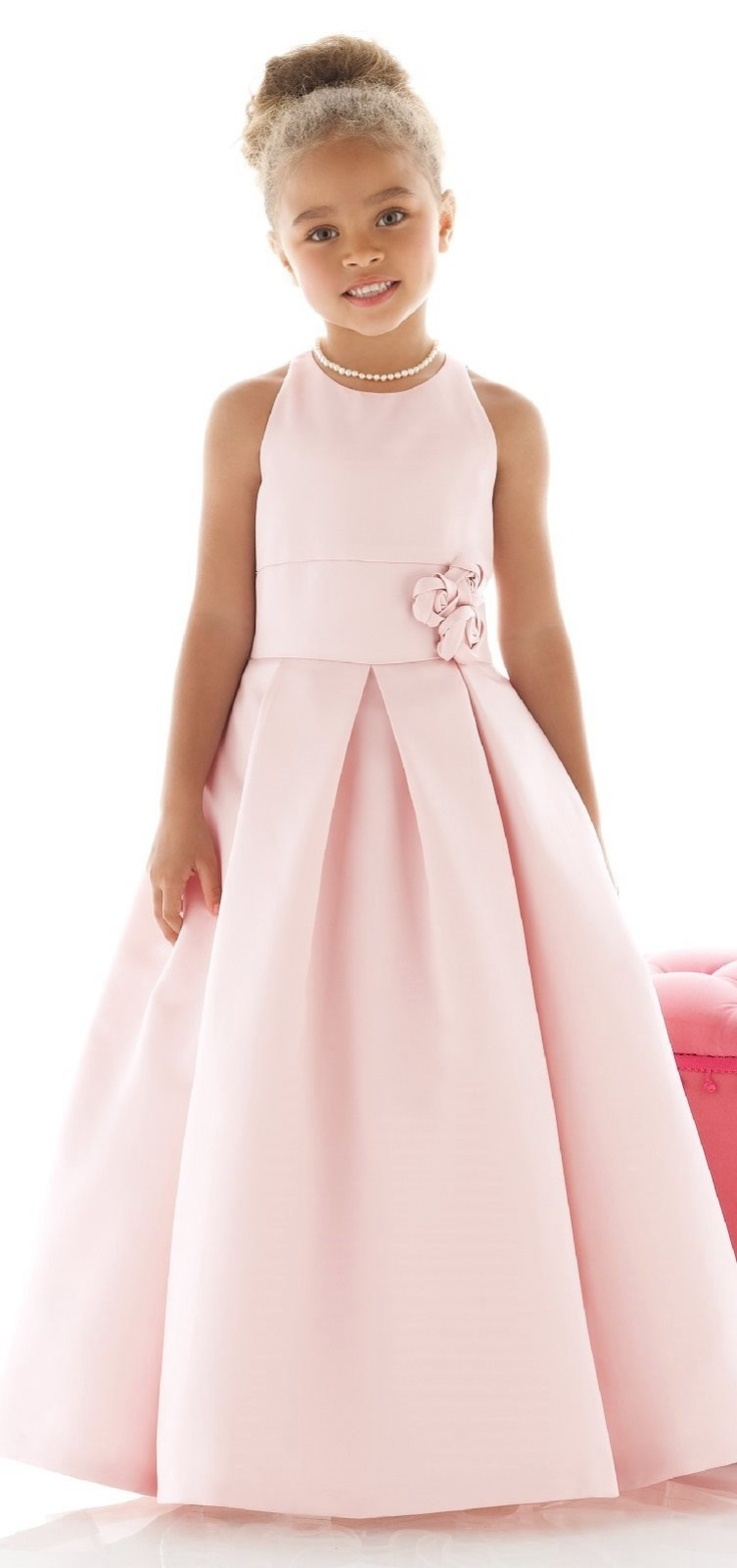 28 - pink...flower girl dress w/rosettes