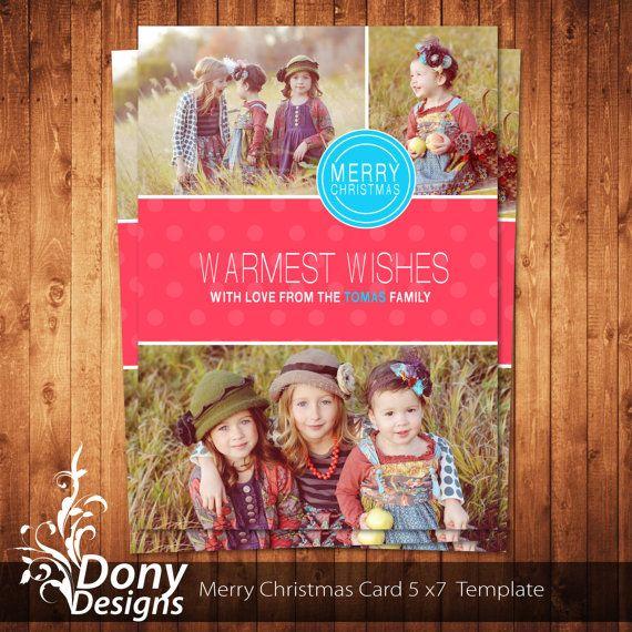 christmas card template photoshop