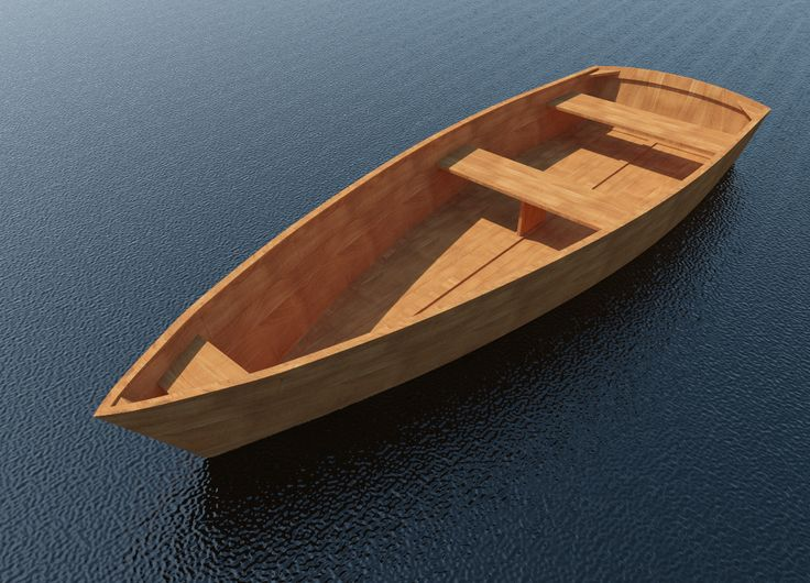 Row Boat Plans DIY Wooden Rowboat Skif Dory Canoe 11' x 3 ...