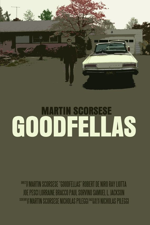 Goodfellas Movie Poster Paper or Plexiglas or by FunnyFaceArt, $15.00