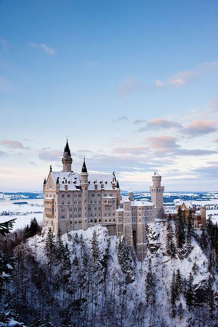 Neuschwanstein Castle, Bavaria, Germany -- about 3 1/2 hours from Heidelberg