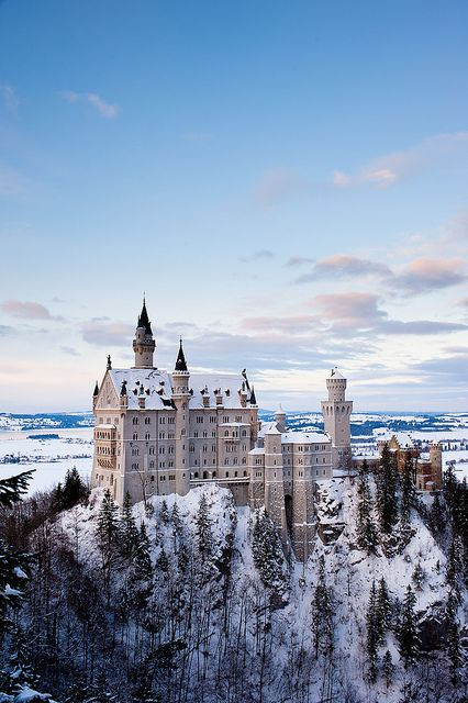 Neuschwanstein Castle.... it looks just as majestic in real life. This is the castle that all fairy tale castles are based off of :)