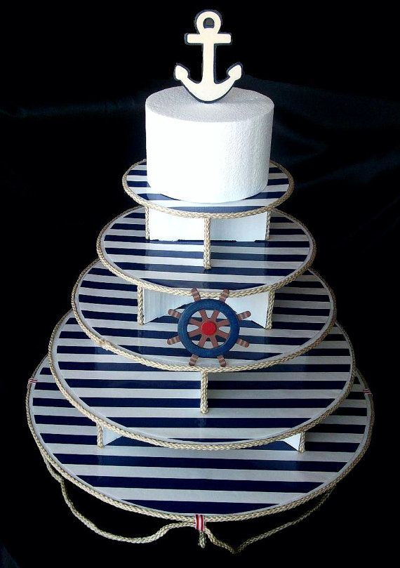 Nautical / Sailor Cupcake Stand 5 tier by BellaLivelli on Etsy
