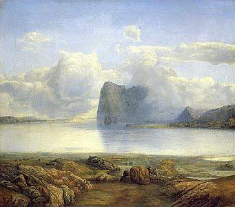 View from Borgorya by Lars Hertervig (1867)