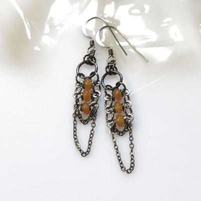3 Gem Zipper Earrings available in a wide variety of colours at www.carolinetrask.com