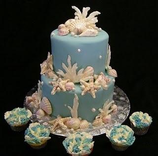 tartas para bodas en la playa