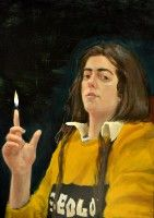 Better Burn, oil on canvas, painting by Klara Sedlo (*1993)