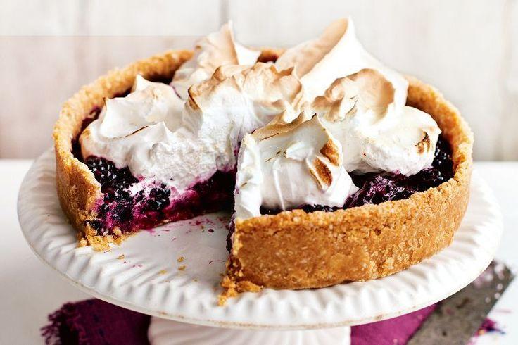 Bill Granger's blackberry meringue pie