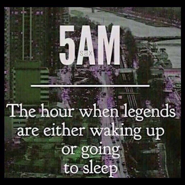 Really? Last time I remember, I always sleep at 5am because I have depression.