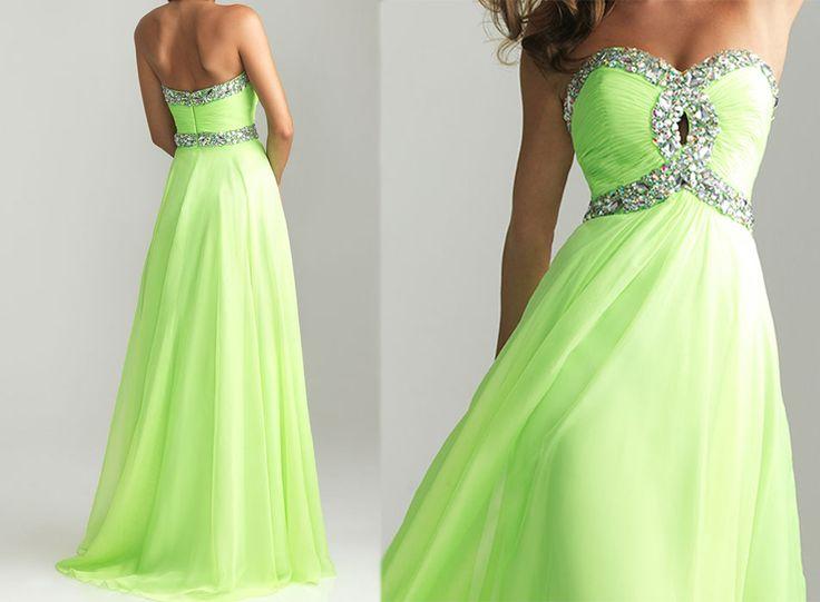 Best 25+ Lime Green Prom Dresses Ideas On Pinterest