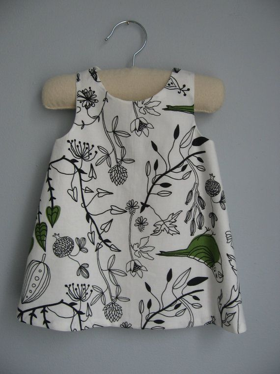 Girls Graphic Reversible Dress with side pockets by MaddyandBuster