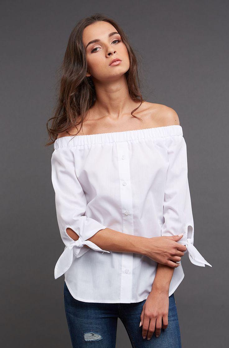 Белая рубашка с завязками Gee!