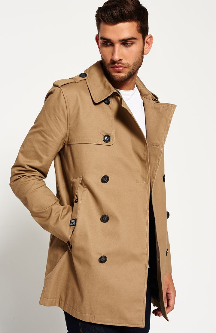 Shop Superdry Mens Winter Rogue Trench Coat in Tabacco. Buy now with free  delivery from the Official Superdry Store.