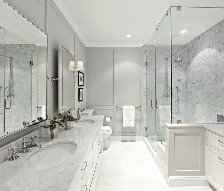 West Village Waterfront || Walk-In Shower || Chango & Co.  Featured in Architectural Digest: http://www.architecturaldigest.com/story/before-after-bathroom-makeover-design-tips