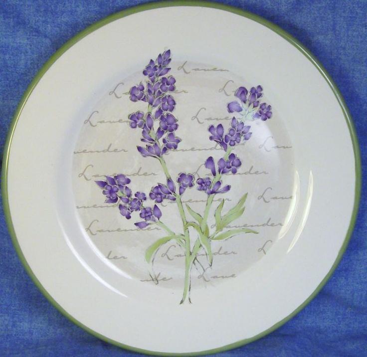 lavender salad plate