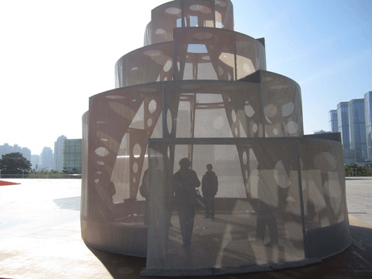 Oxymoron Pavilion, Shenzhen, part of Ultra-Light Village, Hong Kong Shenzhen Biennale, OBRA Architects, Beijing and New York