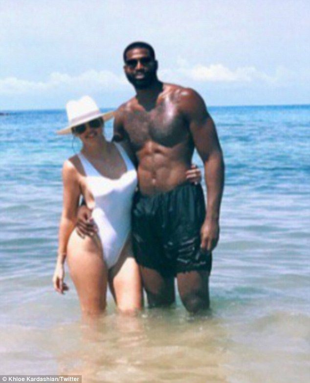 Postcard from paradise: Khloe Kardashian and Tristan Thompson are currently enjoying a romantic getaway