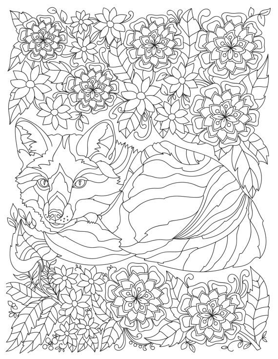 Stress Coloring Pages Animals : Best images about adult colouring animals zentangles on