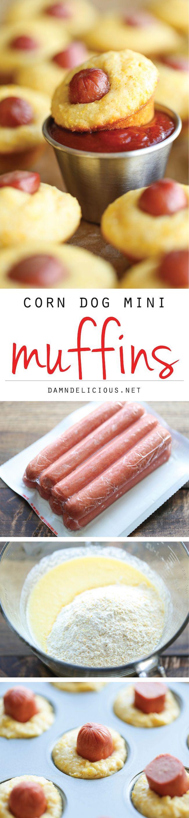 Corn Dog Mini Muffins! YUM. (Via @DamnDelicious)