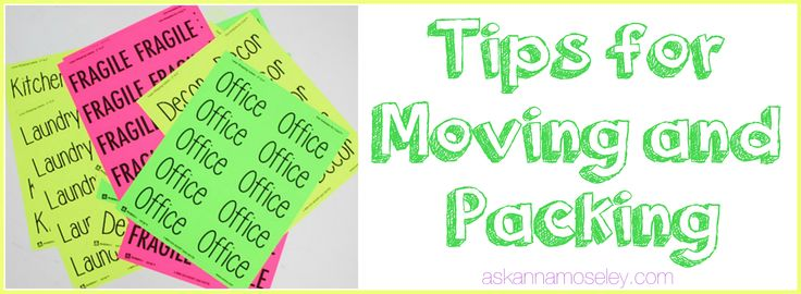 Moving and Packing Tips - Ask Anna