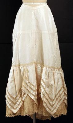 Petticoat    late 1890s: 1890 S Undergarments, Silk Petticoats, Late 1890S, Late 1890 S, Petticoats Late, French Medium, Costume Historiy, Nether Garment, 1890S Culture