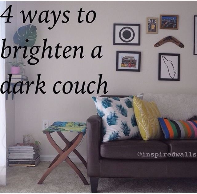 How to lighten your dark leather couch