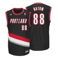 Portland Trailblazers - Maillot NBA Nicolas Batum Adidas Noir