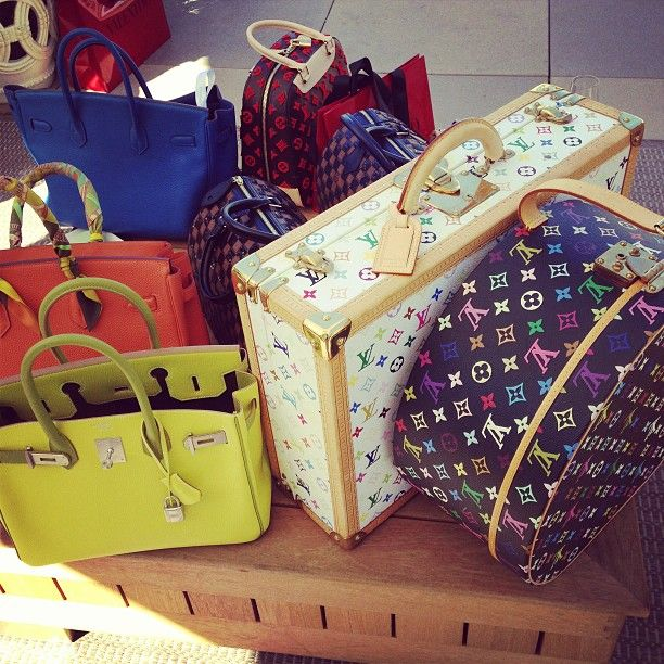 Cute Louis Vuitton suitcases.