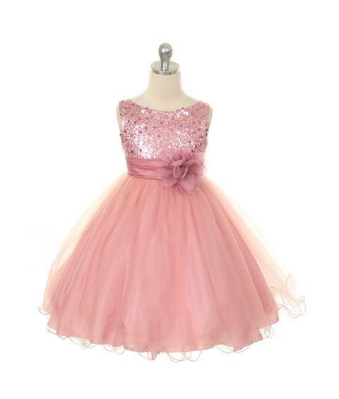 Chiffon flower girls dress party dress short length by AFairyland, $95.00