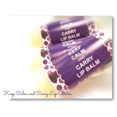 Keep Calm & Carry Lip Balm labels by The Lip Balm Queen